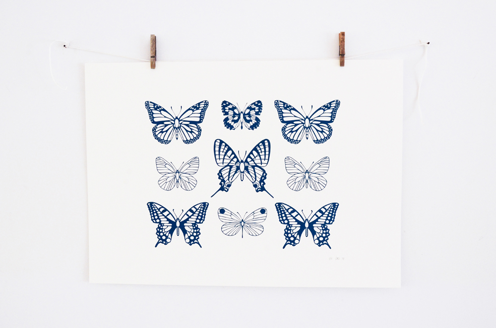 Screen print butterfly