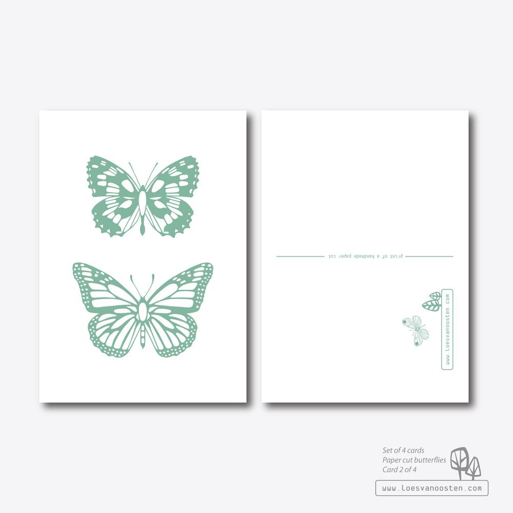 Paper cut butterflies card set 2-4