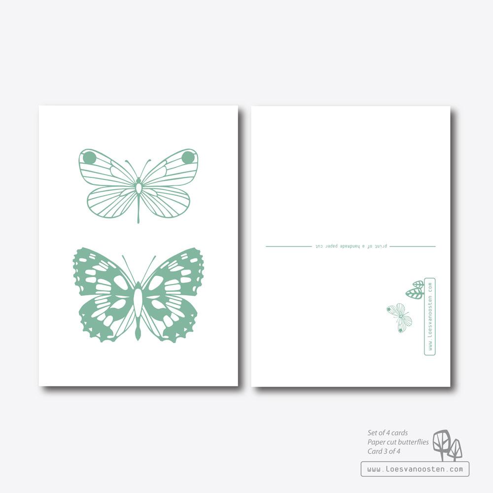 Paper cut butterflies card set 3-4