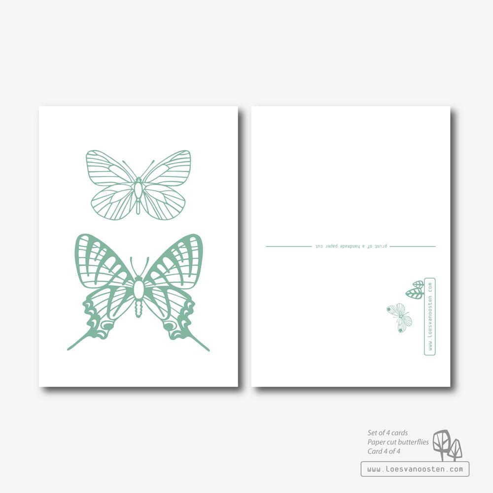 Paper cut butterflies card set 4-4