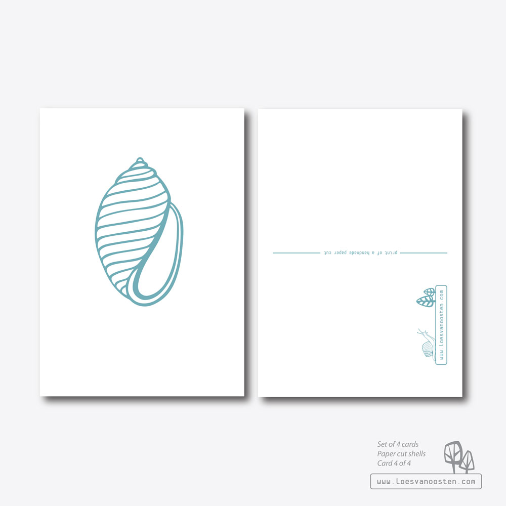 Paper cut shells card set 4-4